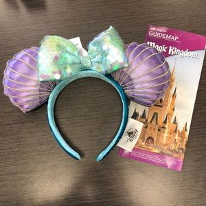 Disney Park Little Mermaid Ears🧜🏻‍♀️🐚💜